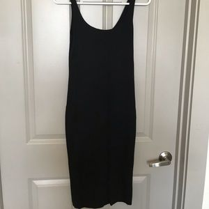 Forever 21 Black Midi Bodycon Dress